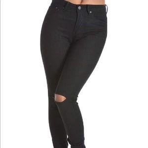 American Bazi black hi-rise skinny jeans